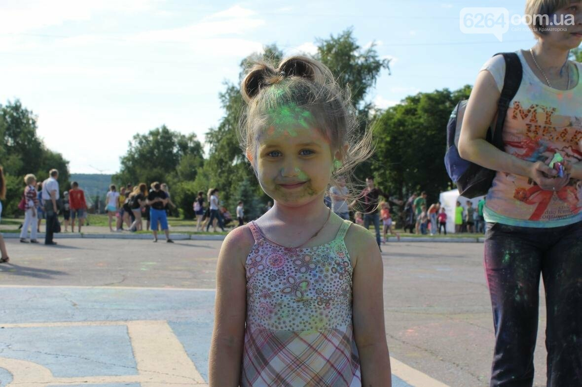 День молодежи в Краматорске: краски, дети и полуобнаженные девушки , фото-1