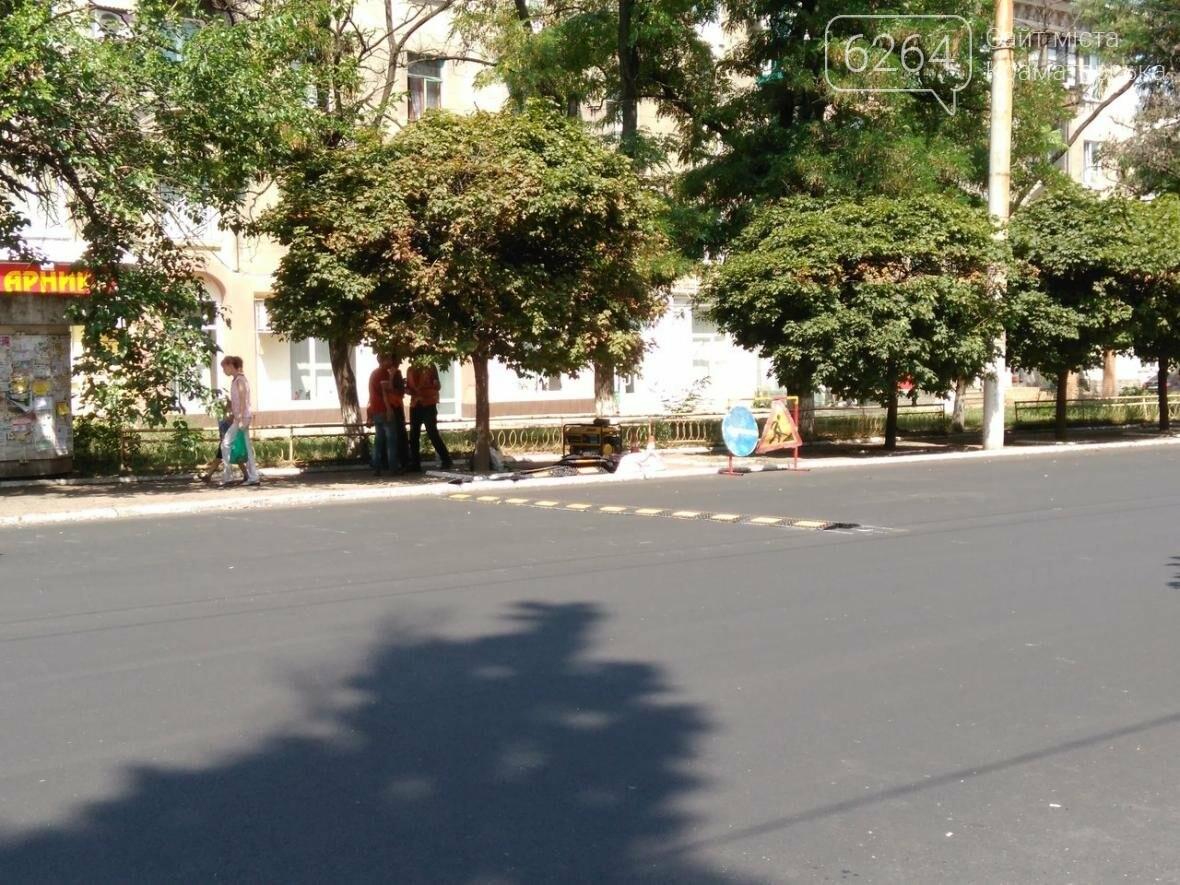 В Краматорске около городской больницы возвращают «лежачих полицейских», фото-2