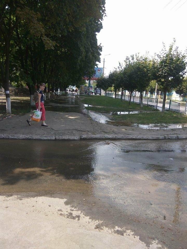 По ул. Парковой прорвало водопровод, фото-3