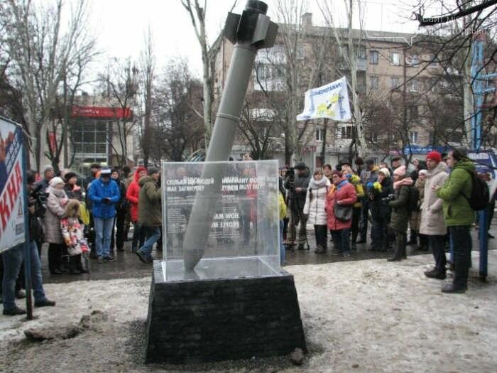 В Краматорске век мемориала «Скільки людей ще має загинути?» оказался недолгим, фото-1