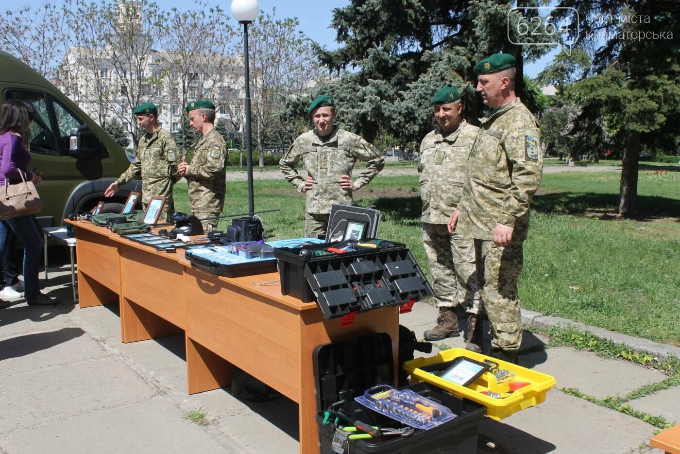 В Краматорске пограничники демонстрируют горожанам вооружение и военную технику , фото-3