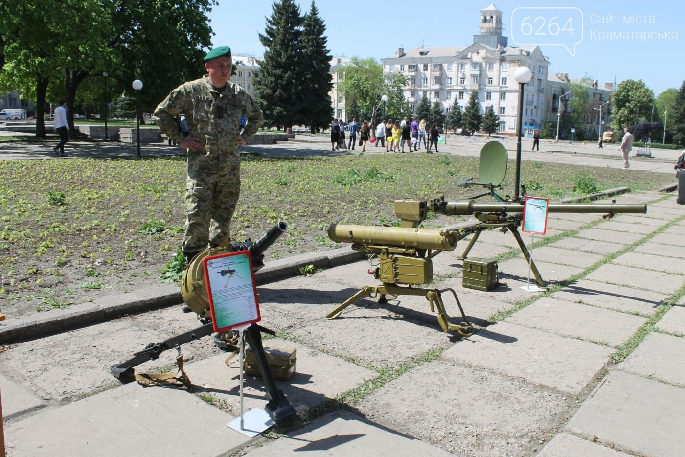 В Краматорске пограничники демонстрируют горожанам вооружение и военную технику , фото-6