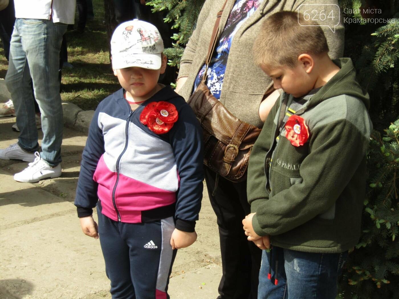 В Сквере Героев краматорчане отметили День победы над нацизмом, фото-6