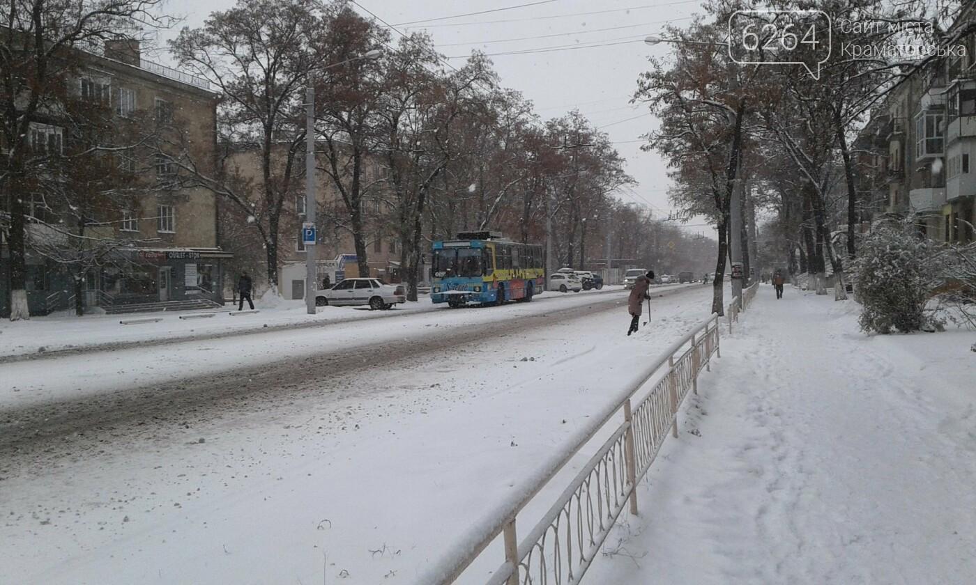 В Краматорске рассказали, как борются с первым снегом, фото-4
