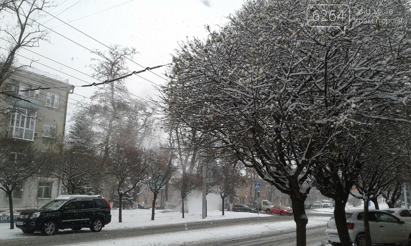 В Краматорске рассказали, как борются с первым снегом, фото-6
