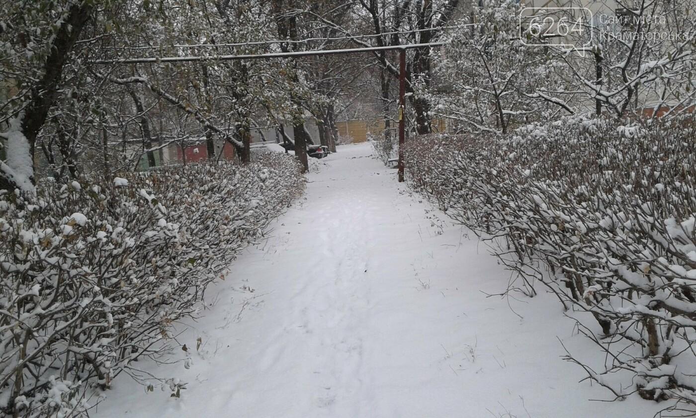 В Краматорске рассказали, как борются с первым снегом, фото-5