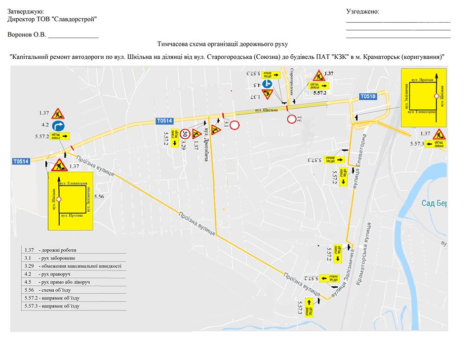 Ремонт автодороги по улице Школьной в Краматорске: опубликована схема объезда, фото-1