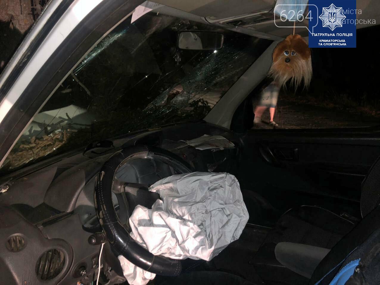 ДТП в Краматорске: Двумя протоколами и разбитым авто закончилась поездка для пьяного водителя , фото-2