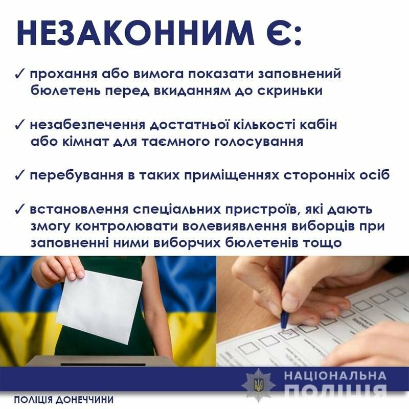 Селфі з бюлетенем – злочин. Поліція нагадує про таємницю голосування під час виборів, фото-1
