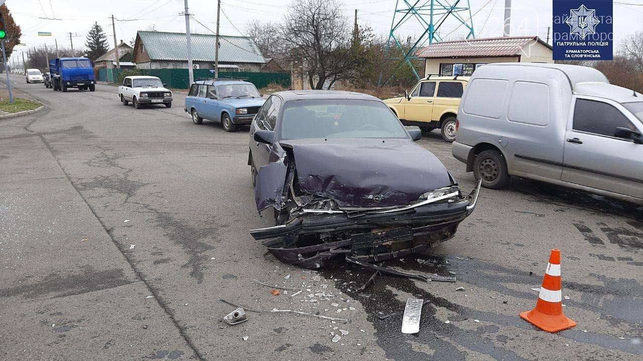 """""""Помятый"""" Mercedes и разбитый Оpel - результат сегодняшнего ДТП в Краматорске, фото-3"""