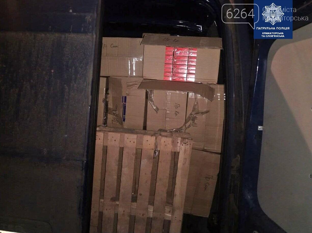 В Крамаорске остановлен микроавтобус с партией поддельных табачных изделий, фото-2