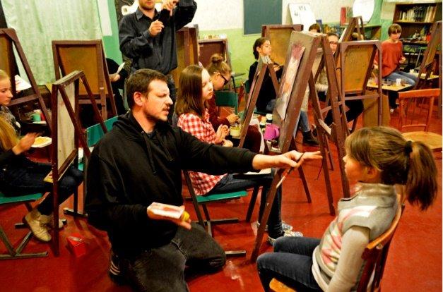 Итальянские художники провели мастер-класс для детей Краматорска, фото-1