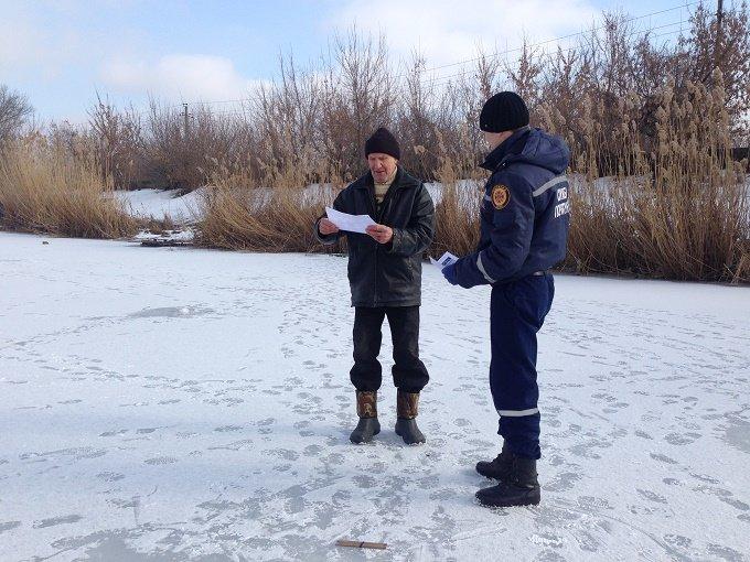Краматорские спасатели предупреждают об опасности на зимних водоемах, фото-1