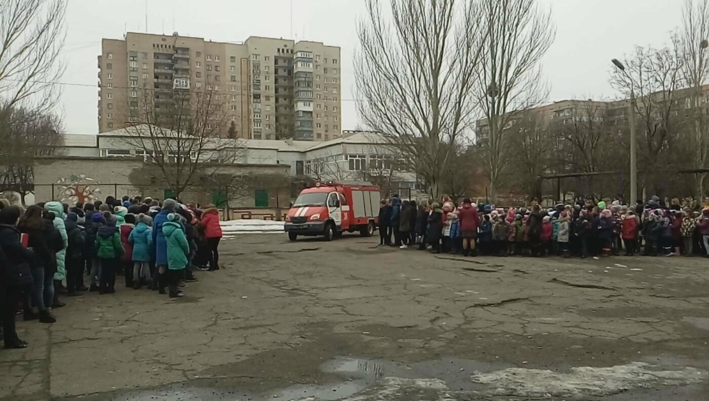 Краматорские спасатели провели тренировочные занятия по сигналу «Тревога» в ОШ №8, фото-2