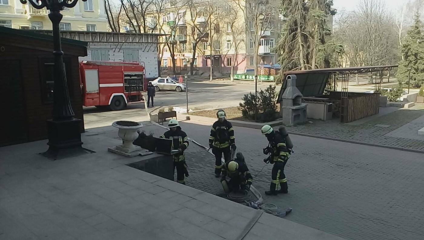 В Краматорске сотрудники ГСЧС  учили спасать и спасаться работников кинотеатра «Родина» , фото-3