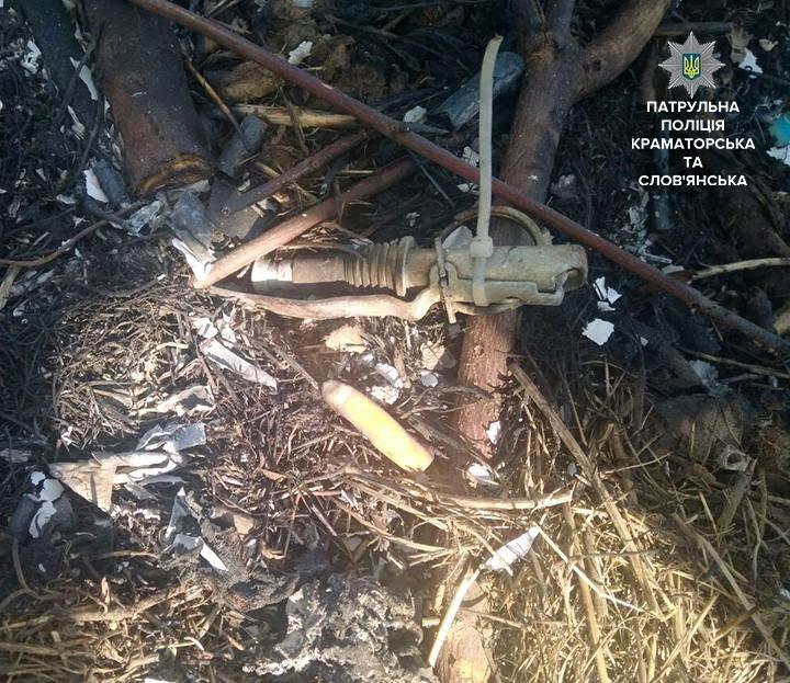 Жительница Краматорска нашла в угасшем костре гранату, фото-1