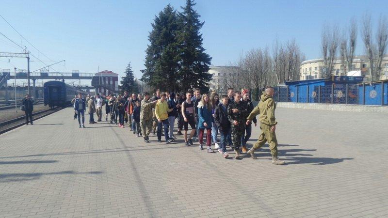 В Краматорске встретили агитпоезд «Труханівська Січ», фото-1