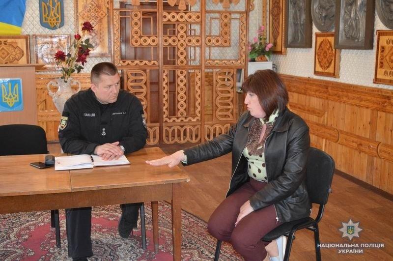 Заместитель начальника Краматорской полиции провел прием граждан в Шабельковке, фото-1