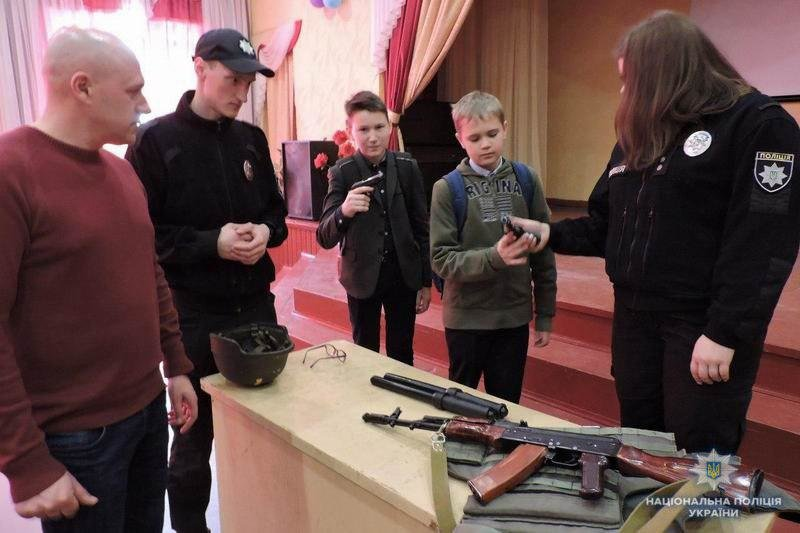 Полицейские Краматорска пришли в гости к ученикам ОШ №3, фото-1