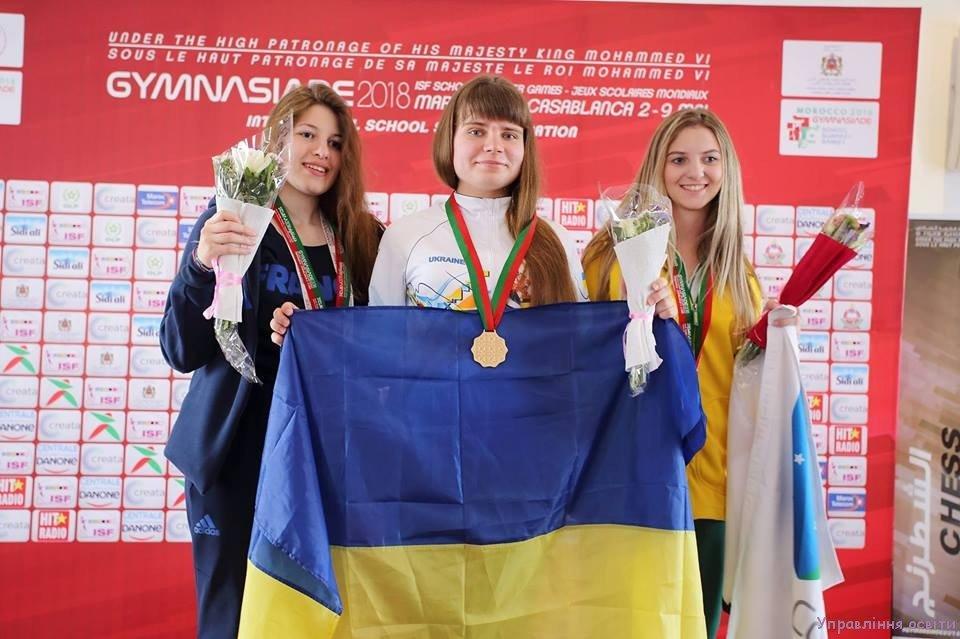Школьница из Краматорска завоевала золотую медаль на Всемирной гимназиаде, фото-1