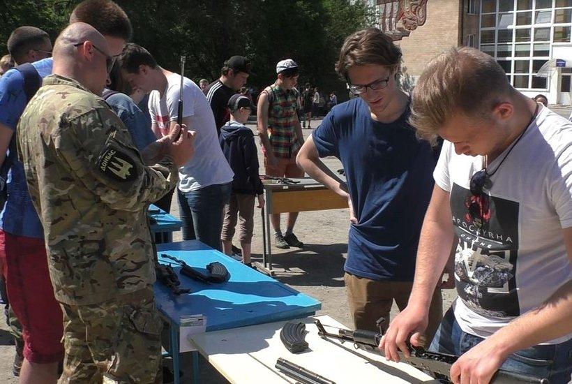 В Краматорске провели военные учебно-полевые сборы для старшеклассников, фото-2