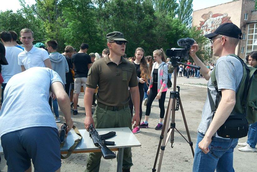 В Краматорске провели военные учебно-полевые сборы для старшеклассников, фото-6