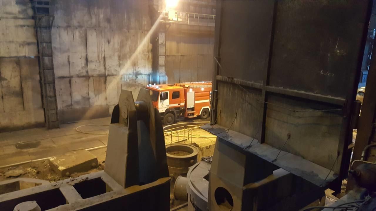 В сталеплавильном цехе НКМЗ произошел пожар, фото-1