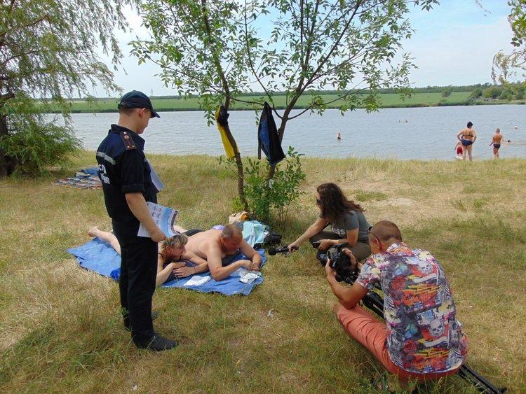 Краматорские спасатели напомнили отдыхающим правила купания , фото-1