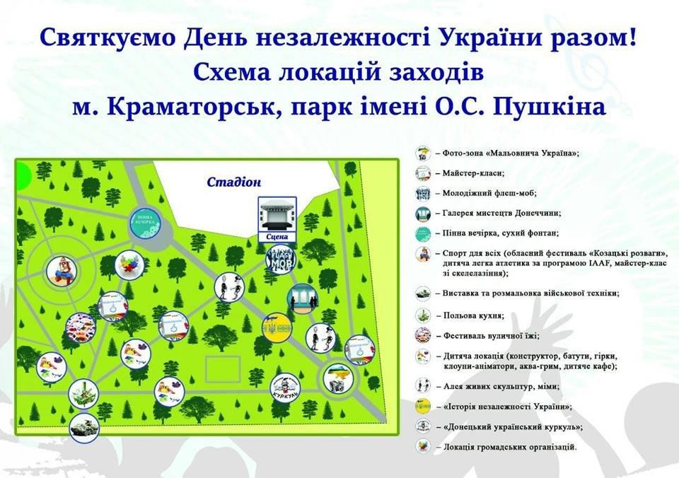 День Независимости в Краматорске: расписание и  локации празднования , фото-2